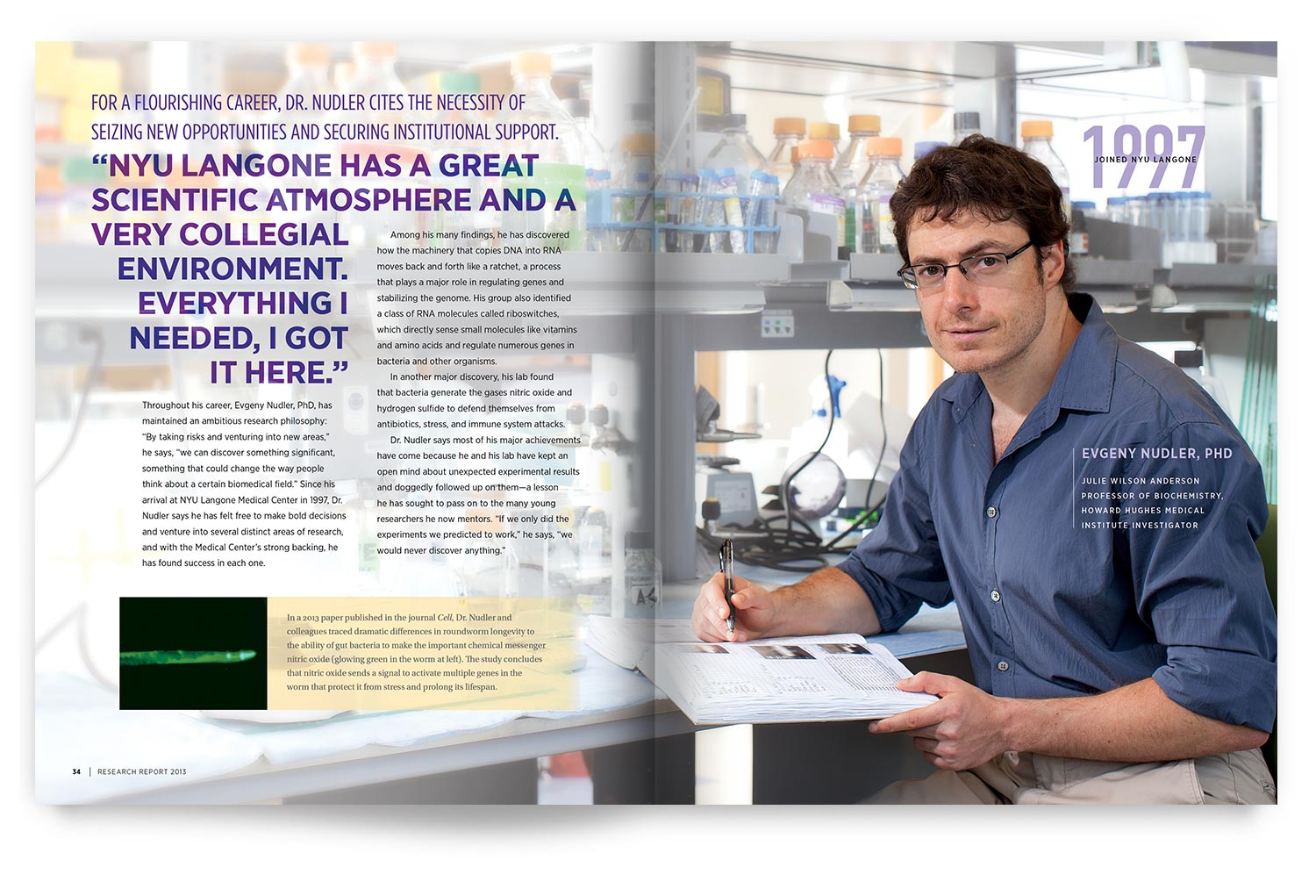 NYU Langone Research Report | hgDesign NYC